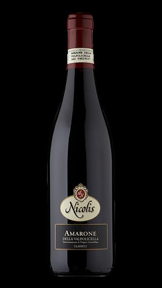 Bottle of Nicolis Amarone della Valpolicella 2012 wine 750 ml