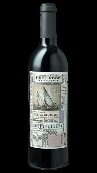 Bottle of Dry Creek Old Vine Zinfandel 2016 wine 750 ml