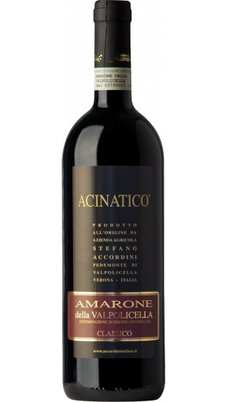 Bottle of Stefano Accordini Acinatico Amarone della Valpolicella Classico 2016 wine 750 ml