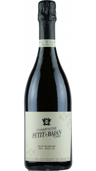 Bottle of Champagne Petit et Bajan Nuit Blanche Grand Cru wine 750 ml