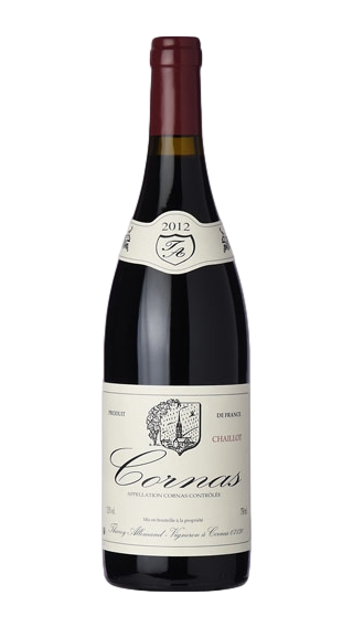 Bottle of Thierry Allemand Cornas Chaillot 2012 wine 750 ml