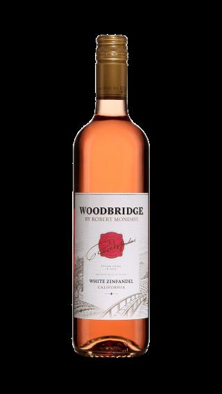 Bottle of Robert Mondavi Woodbridge White Zinfandel wine 750 ml