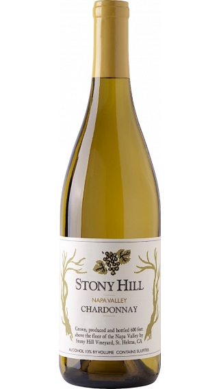Bottle of Stony Hill Chardonnay 2011 wine 750 ml