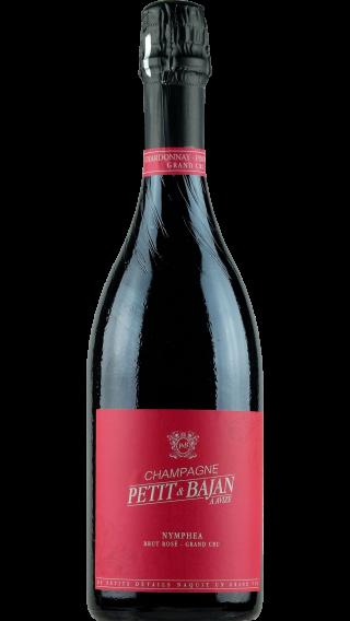 Bottle of Champagne Petit et Bajan Nymphea Rose Grand Cru wine 750 ml