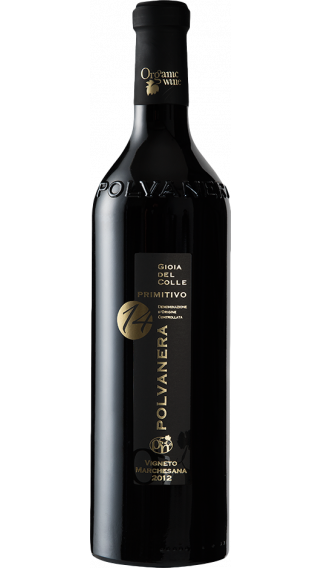 Bottle of Polvanera 14 Primitivo 2015 wine 750 ml