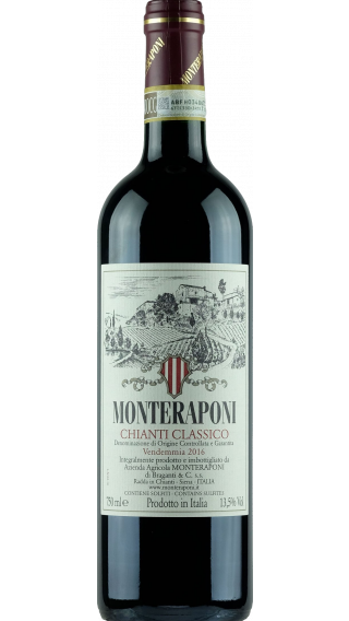 Bottle of Monteraponi Chianti Classico 2018 wine 750 ml