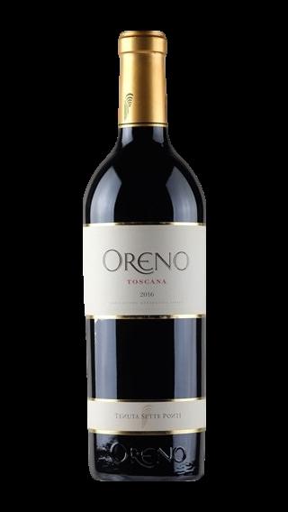 Bottle of Sette Ponti Oreno 2018 wine 750 ml