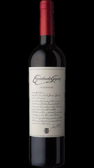 Bottle of Escorihuela Gascon Sangiovese 2017 wine 750 ml