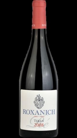 Bottle of Roxanich Teran Re 2008 wine 750 ml