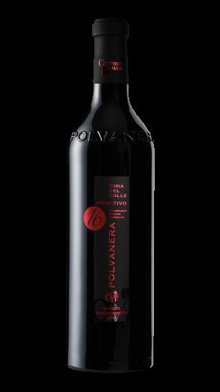 Bottle of Polvanera 16 Primitivo 2014 wine 750 ml