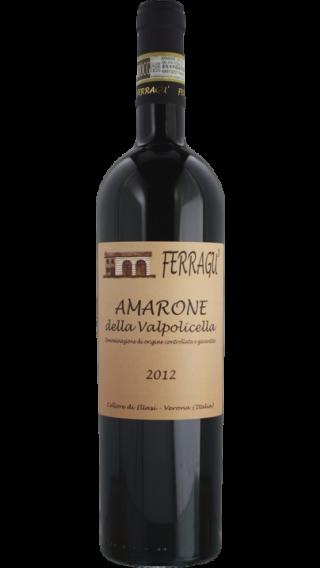 Bottle of Ferragu Amarone della Valpolicella 2012 wine 750 ml