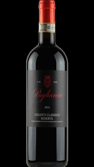 Bottle of Pagliarese Chianti Classico Riserva 2015 wine 750 ml