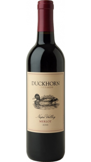 Bottle of Duckhorn Napa Valley Merlot 2017 wine 750 ml