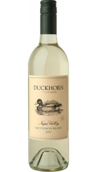 Bottle of Duckhorn Napa Valley Sauvignon Blanc 2017 wine 750 ml