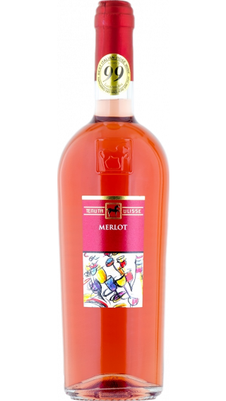 Bottle of Tenuta Ulisse Merlot Rose 2019 wine 750 ml
