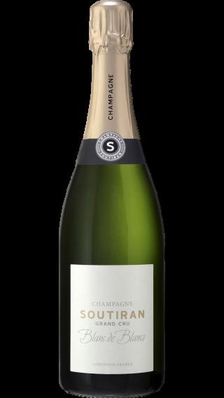 Bottle of Champagne Soutiran Blanc de Blancs Brut Grand Cru wine 750 ml