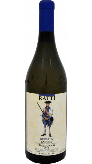 Bottle of Renato Ratti Brigata Langhe Chardonnay 2018 wine 750 ml