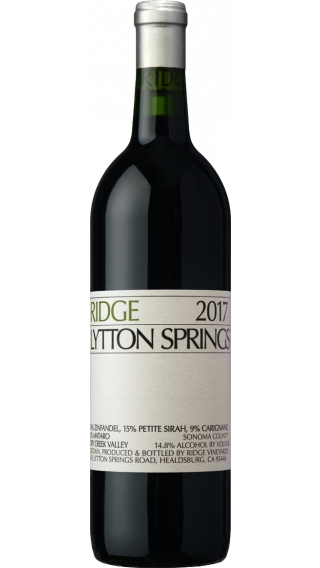 Bottle of Ridge  Lytton Springs 2017 wine 750 ml