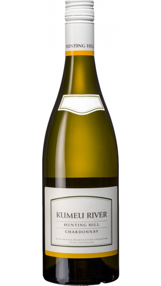 Bottle of Kumeu River Hunting Hill Chardonnay 2018 wine 750 ml