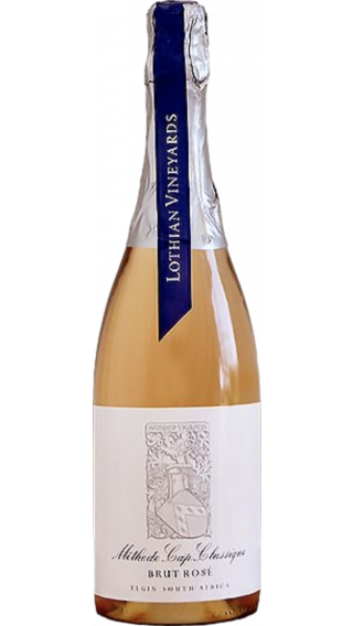 Bottle of Lothian Vineyards Methode Cap Classique Brut Rose wine 750 ml
