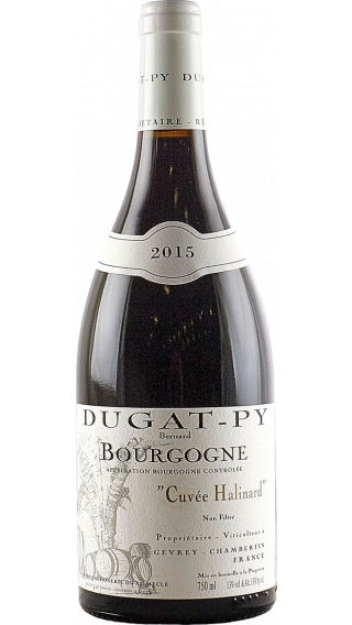 Bottle of Domaine Dugat-Py Bourgogne Cuvee Halinard 2015 wine 750 ml