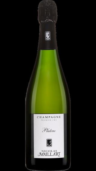 Bottle of Champagne Nicolas Maillart Brut Platine Premier Cru wine 750 ml