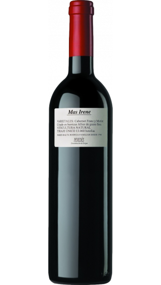 Bottle of Pares Balta Mas Irene 2017 wine 750 ml
