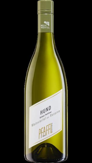 Bottle of Pfaffl Hund Reserve Gruner Veltliner 2019 wine 750 ml