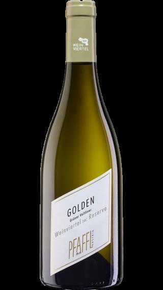 Bottle of Pfaffl Golden Reserve Gruner Veltliner 2019 wine 750 ml