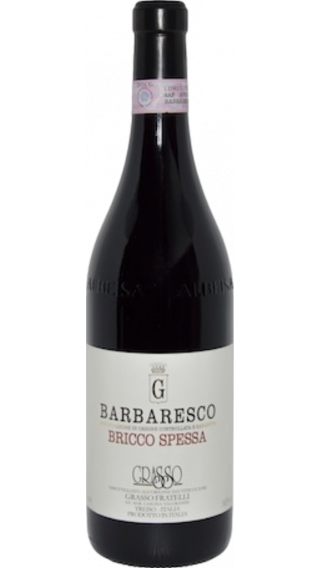 Bottle of Grasso Fratelli Barbaresco Giacosa Spessa 2015 wine 750 ml