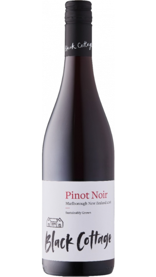 Bottle of Black Cottage Pinot Noir 2018 wine 750 ml