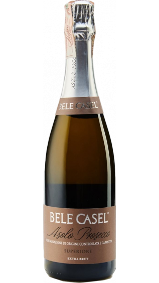 Bottle of Bele Casel Asolo Prosecco Superiore Extra Brut wine 750 ml