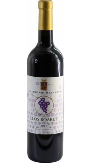 Bottle of Rizzardi Clos Roareti Verona Merlot 2017 wine 750 ml