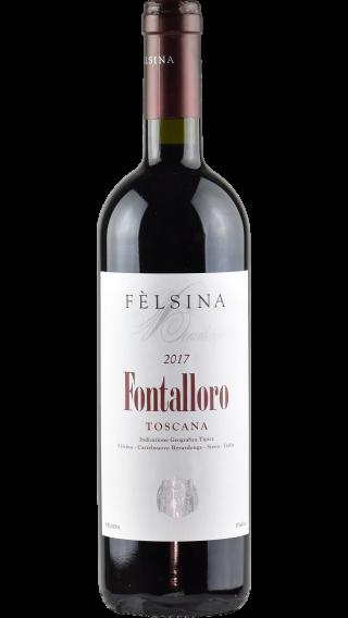 Bottle of Felsina Fontalloro 2017 wine 750 ml