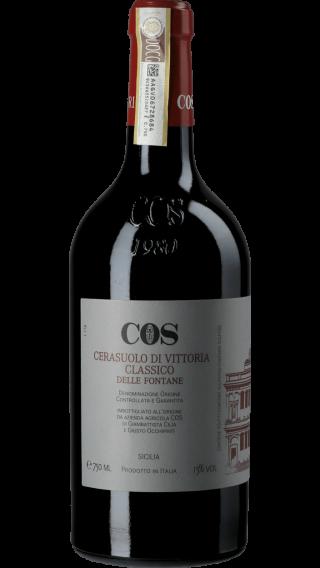 Bottle of COS Cerasuolo di Vittoria Delle Fontane 2012 wine 750 ml
