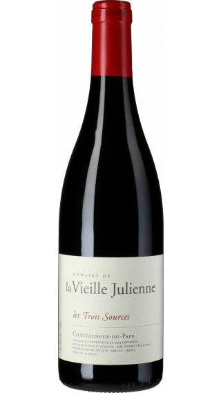 Bottle of Vieille Julienne Chateauneuf du Pape les Trois Sources  2013 wine 750 ml