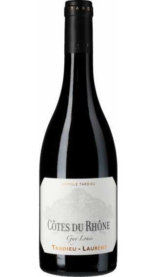 Bottle of Tardieu Laurent Cotes du Rhone Guy Louis 2017 wine 750 ml