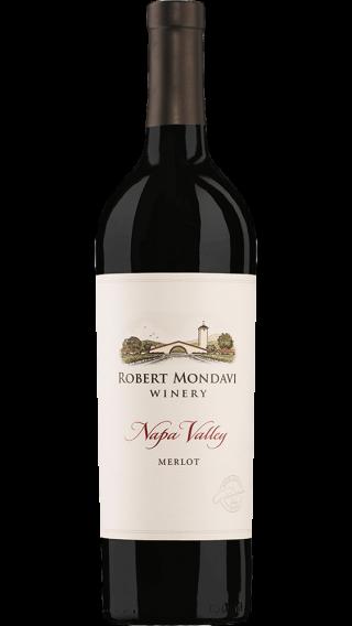Bottle of Robert Mondavi Napa Valley Merlot 2013 wine 750 ml
