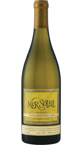 Bottle of Mer Soleil Reserve Chardonnay 2018 wine 750 ml