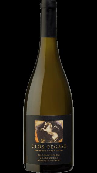 Bottle of Clos Pegase Mitsuko's Vineyard Chardonnay 2018 wine 750 ml