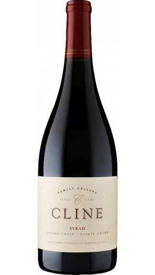 Bottle of Cline  Sonoma Coast Syrah 2017 wine 750 ml