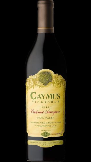 Bottle of Caymus Cabernet Sauvignon 2016 wine 750 ml