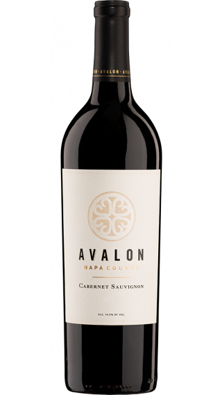 Bottle of Avalon Napa Valley Cabernet Sauvignon 2014 wine 750 ml