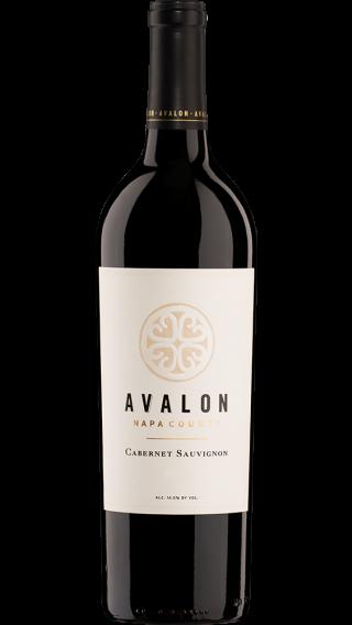 Bottle of Avalon Napa Valley Cabernet Sauvignon 2015 wine 750 ml