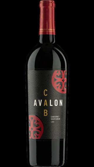 Bottle of Avalon Lodi Cabernet Sauvignon 2017 wine 750 ml