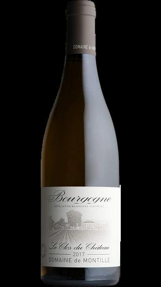 Bottle of Montille Chateau de Puligny Montrachet  Bourgogne Clos du Chateau 2017 wine 750 ml