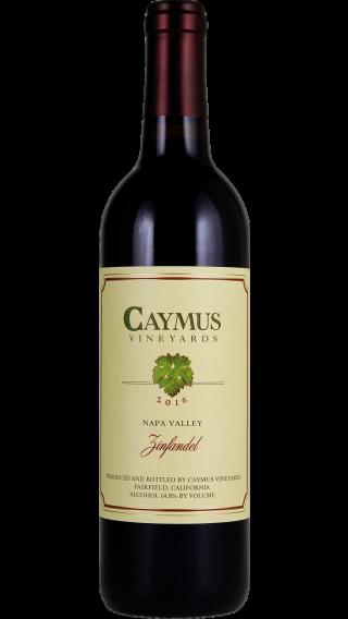 Bottle of Caymus Zinfandel 2016 wine 750 ml