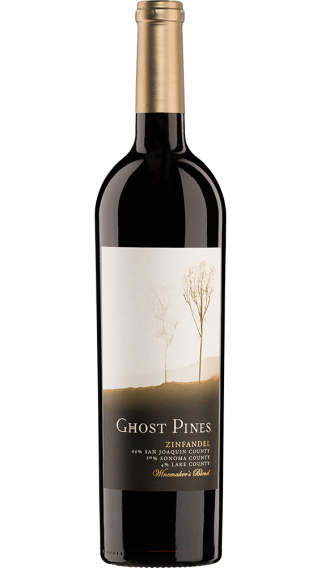 Bottle of Ghost Pines Zinfandel 2015 wine 750 ml