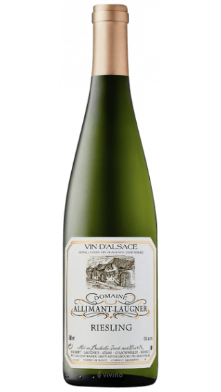 Bottle of Allimant Laugner Riesling 2017 wine 750 ml