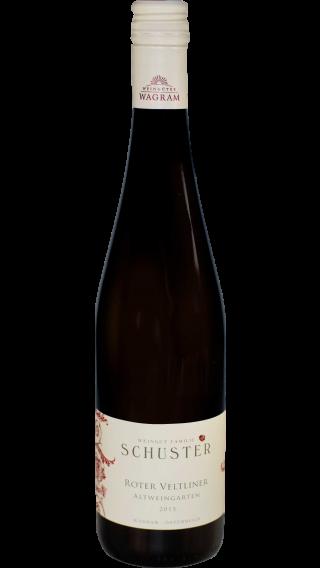 Bottle of Schuster Roter Veltliner Altweingarten 2015 wine 750 ml